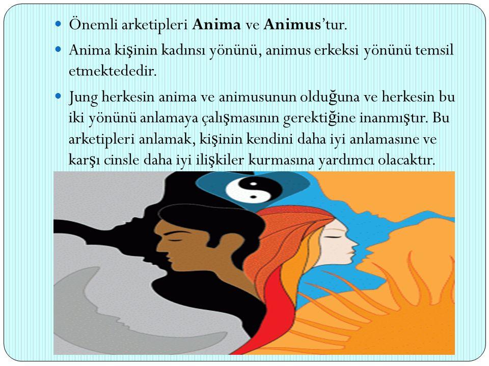Önemli arketipleri Anima ve Animus'tur.
