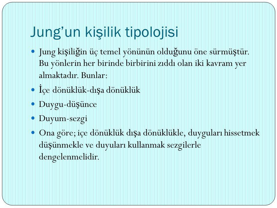 Jung'un kişilik tipolojisi