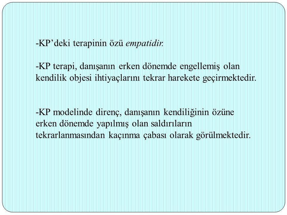 -KP'deki terapinin özü empatidir.