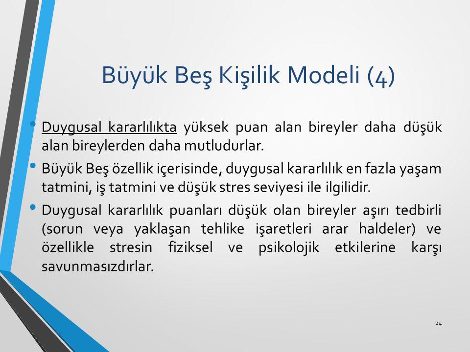 Büyük Beş Kişilik Modeli (4)
