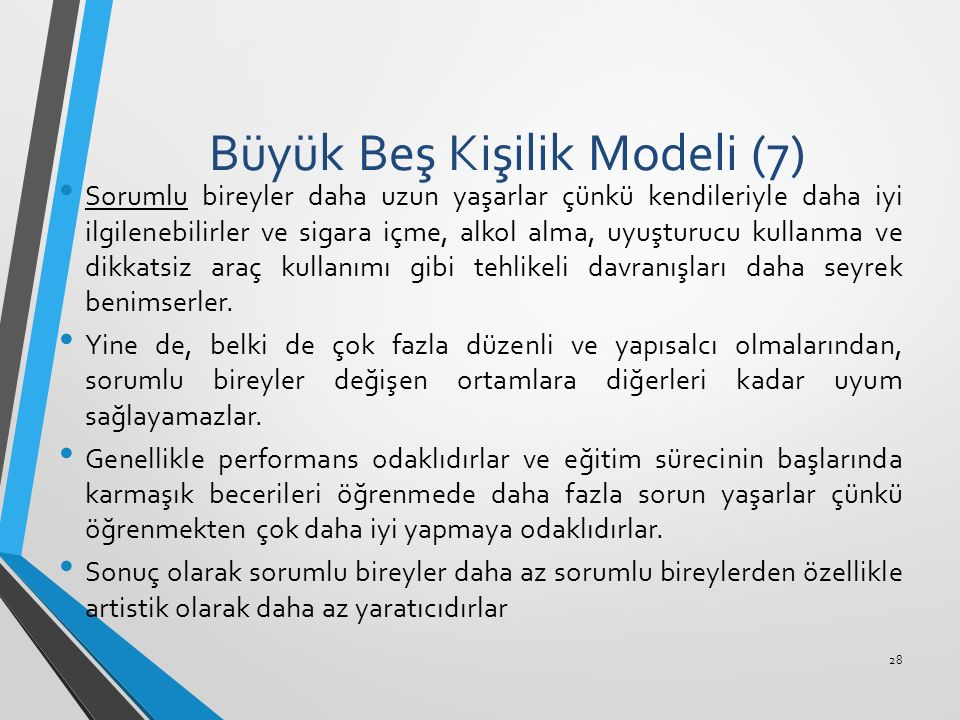 Büyük Beş Kişilik Modeli (7)