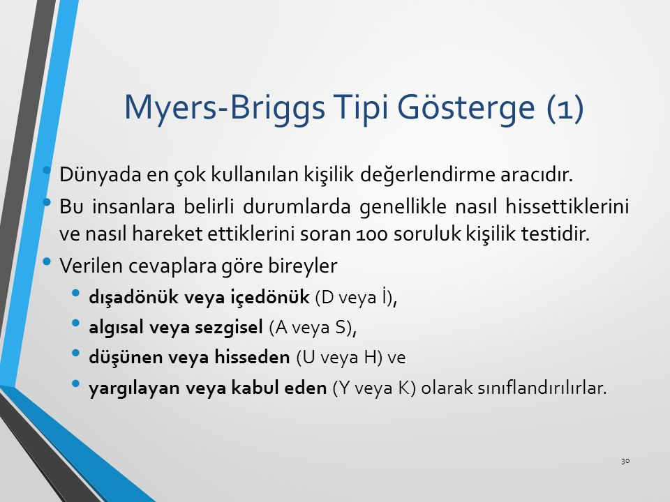Myers-Briggs Tipi Gösterge (1)