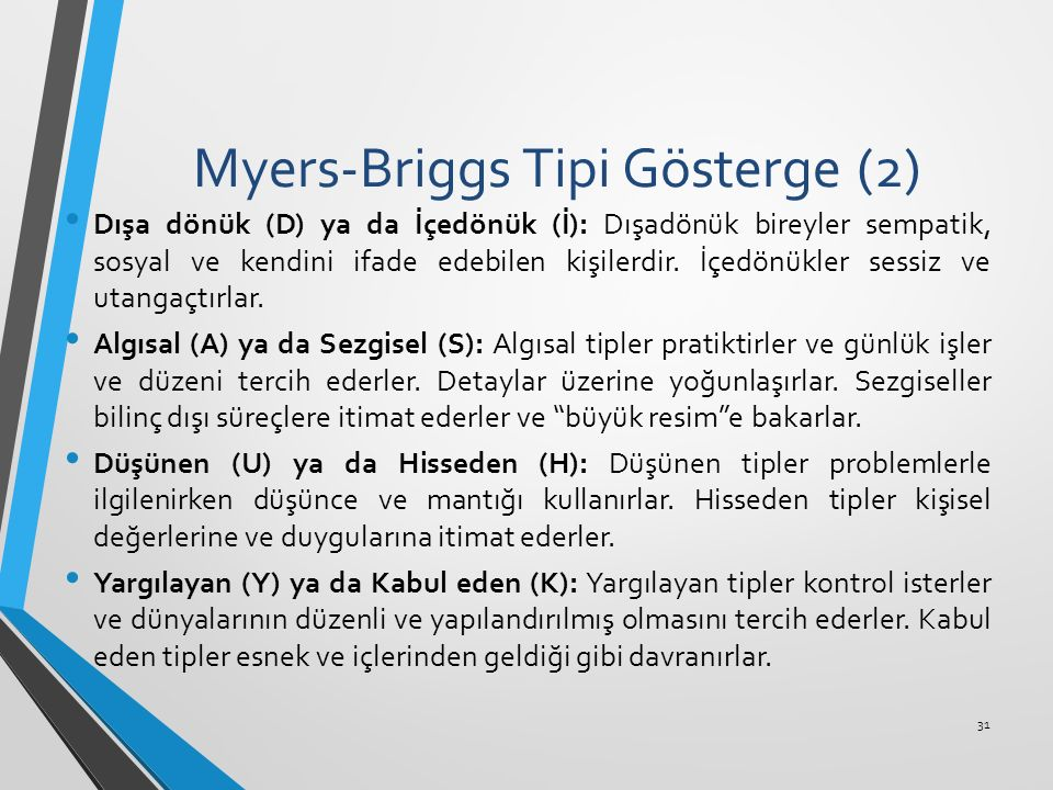 Myers-Briggs Tipi Gösterge (2)