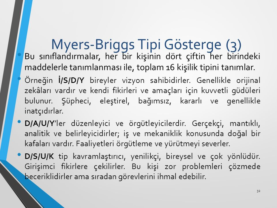 Myers-Briggs Tipi Gösterge (3)