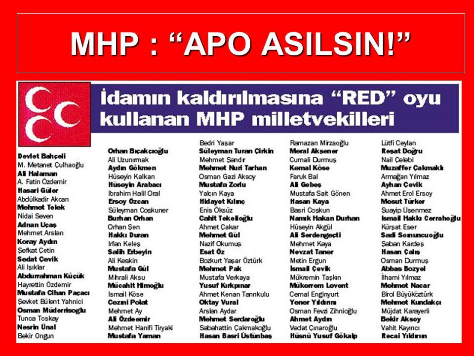 MHP : APO ASILSIN!