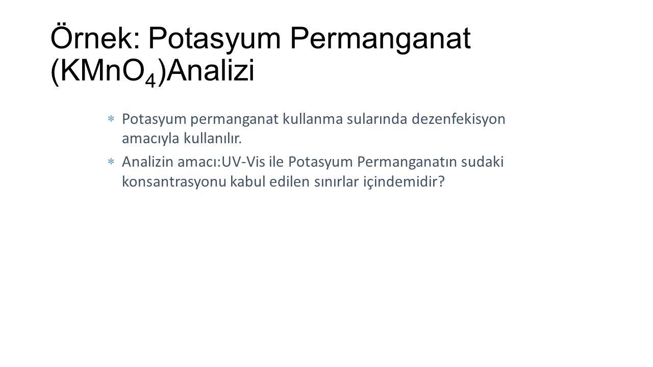Örnek: Potasyum Permanganat (KMnO4)Analizi