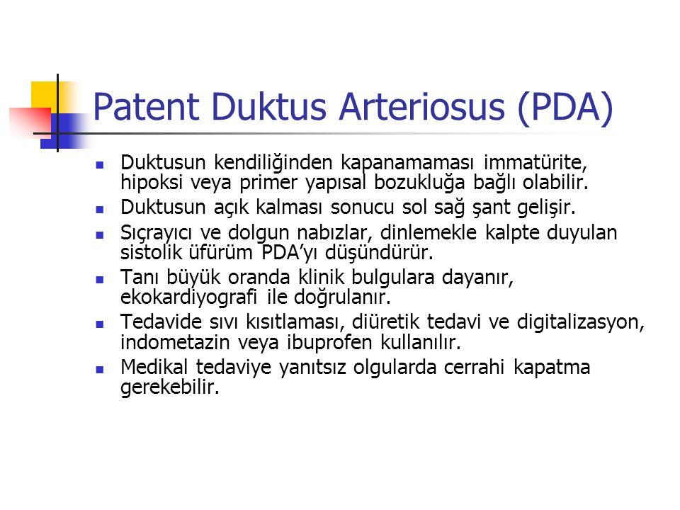 Patent Duktus Arteriosus (PDA)
