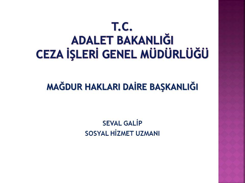 T.C. ADALET BAKANLIĞI CEZA İŞLERİ GENEL MÜDÜRLÜĞÜ