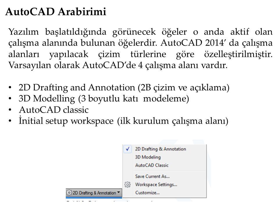 AutoCAD Arabirimi