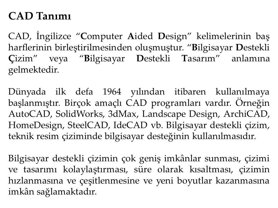 CAD Tanımı