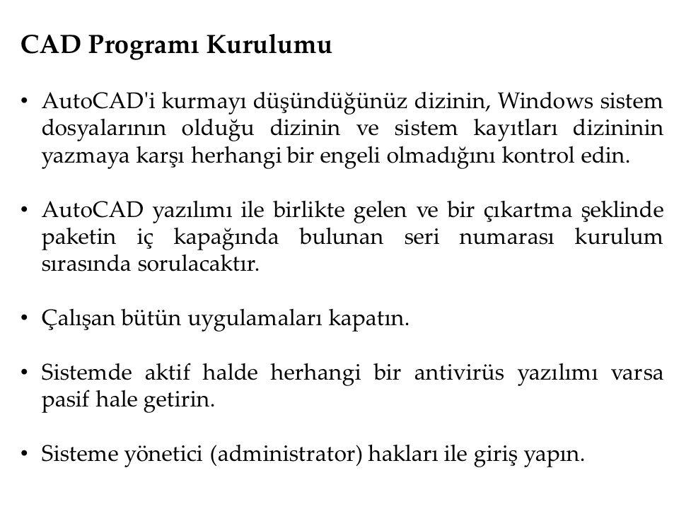 CAD Programı Kurulumu