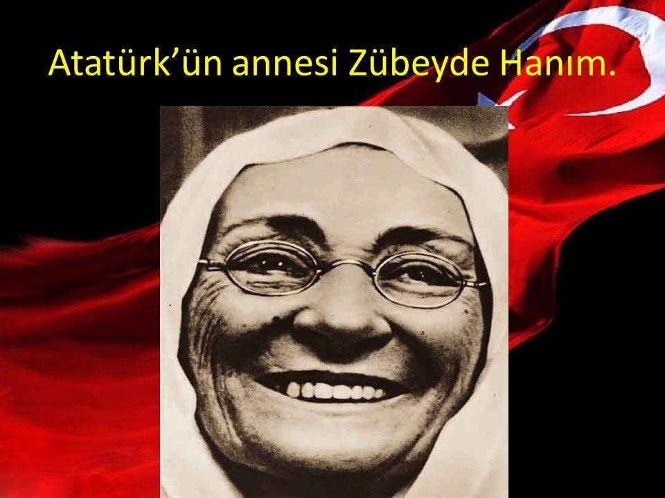 Atatürk'ün annesi Zübeyde Hanım.