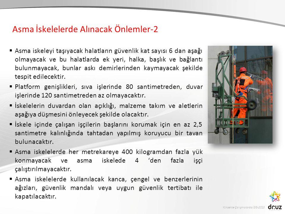 Asma İskelelerde Alınacak Önlemler-2