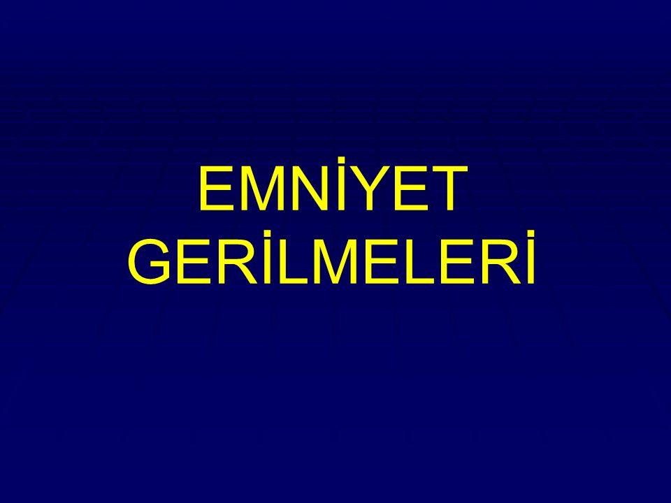 EMNİYET GERİLMELERİ