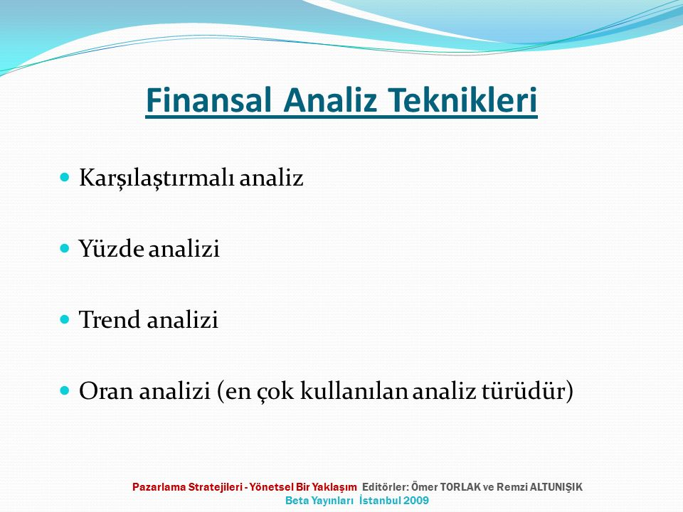 Finansal Analiz Teknikleri