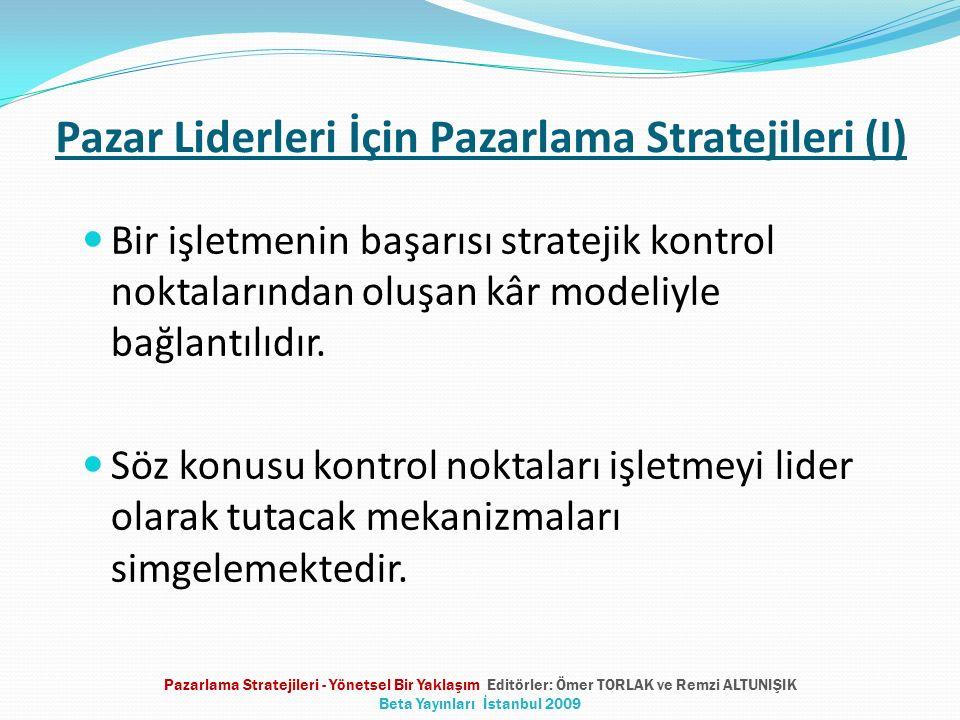 Pazar Liderleri İçin Pazarlama Stratejileri (I)