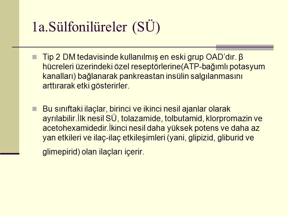 1a.Sülfonilüreler (SÜ)