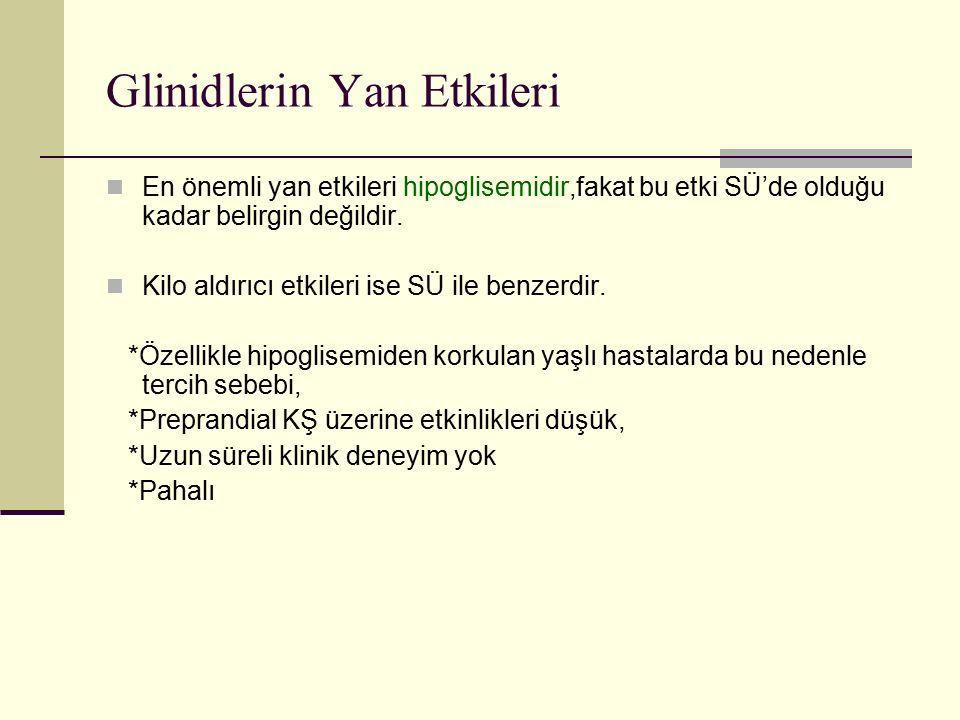 Glinidlerin Yan Etkileri