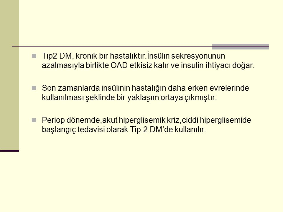 Tip2 DM, kronik bir hastalıktır