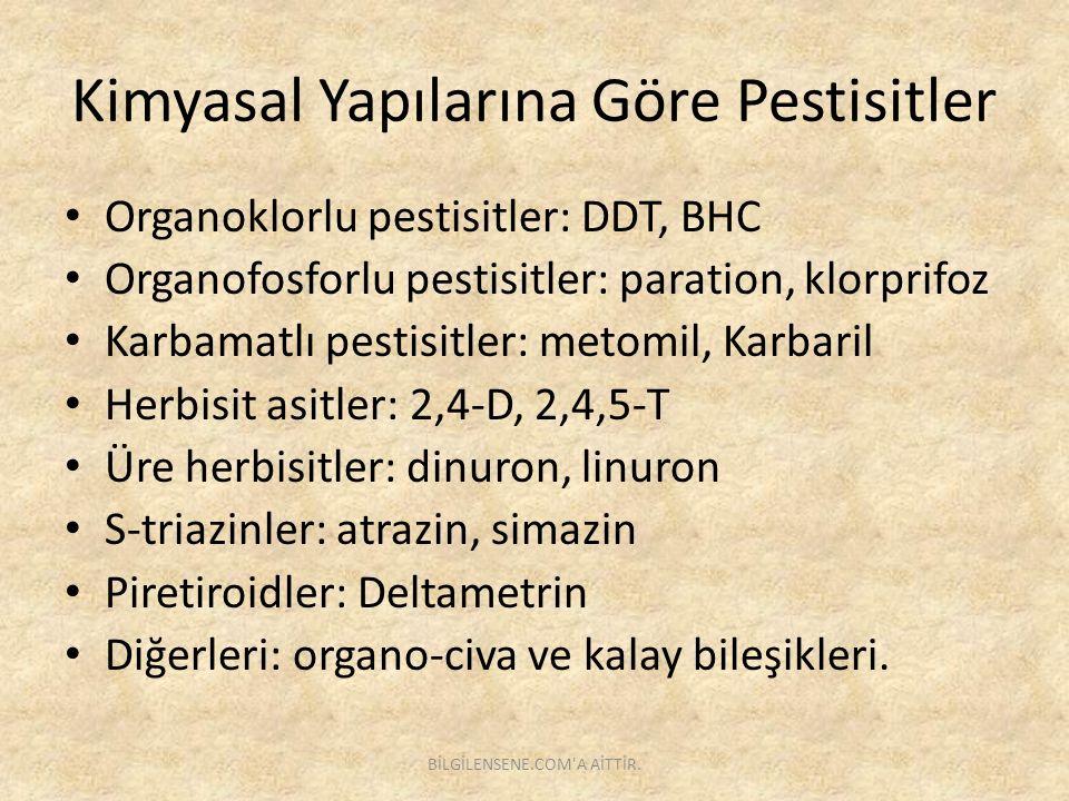 Kimyasal Yapılarına Göre Pestisitler