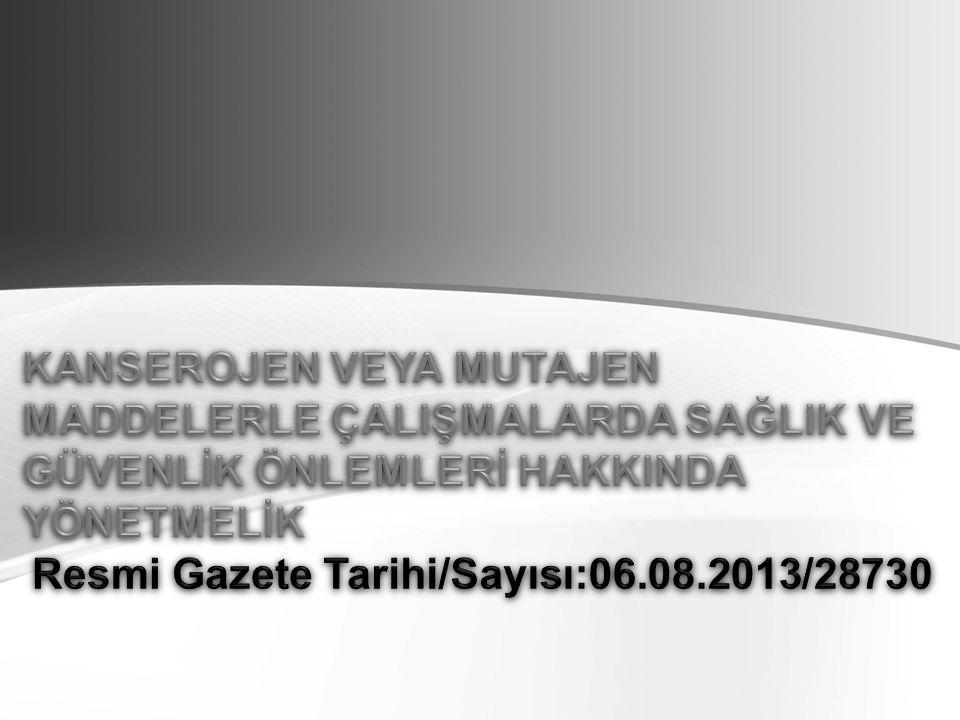 Resmi Gazete Tarihi/Sayısı:06.08.2013/28730