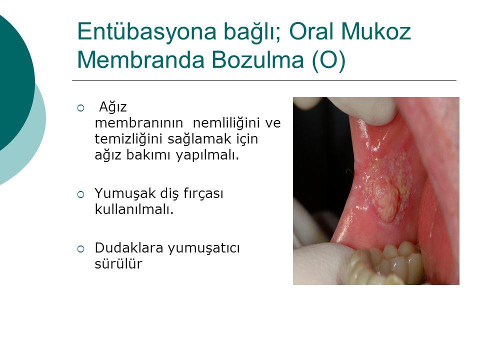 Entübasyona bağlı; Oral Mukoz Membranda Bozulma (O)