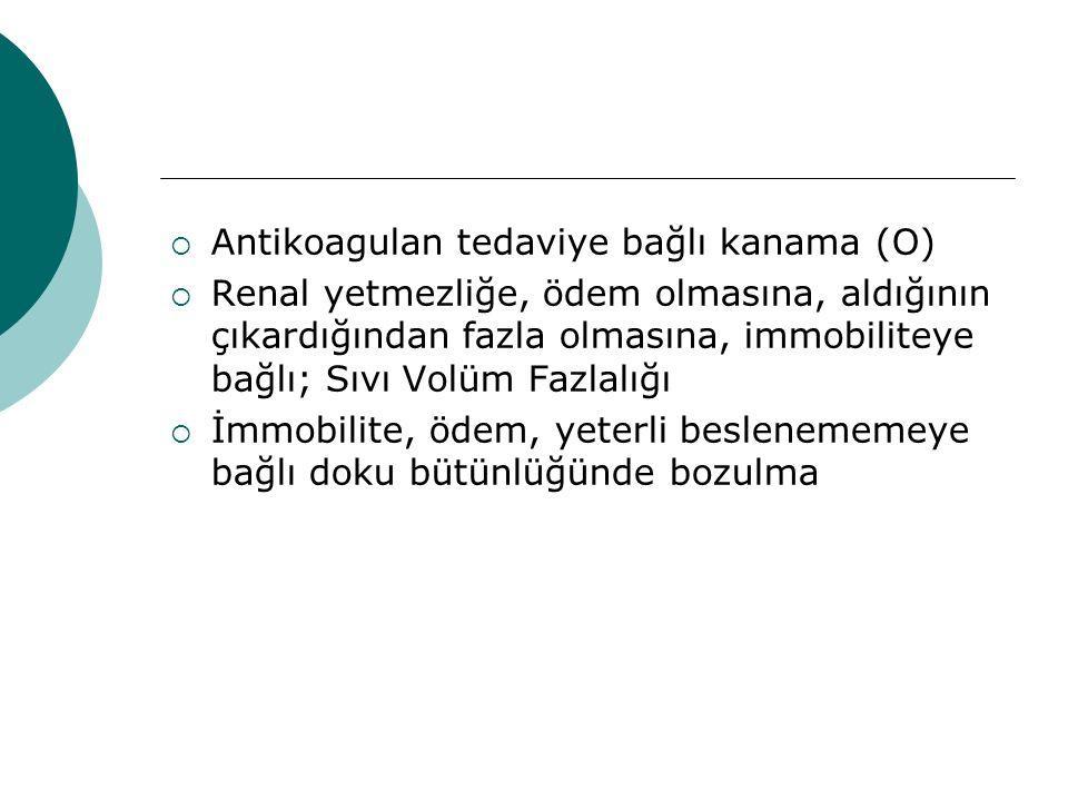 Antikoagulan tedaviye bağlı kanama (O)