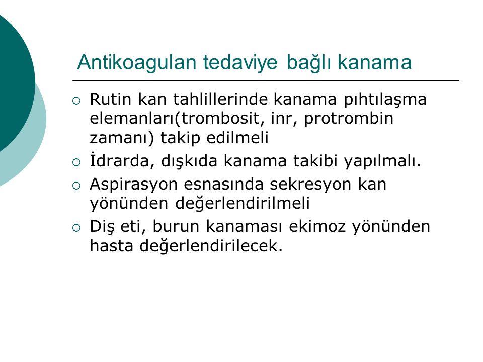 Antikoagulan tedaviye bağlı kanama
