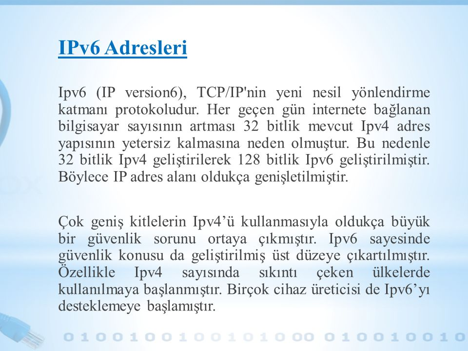 IPv6 Adresleri