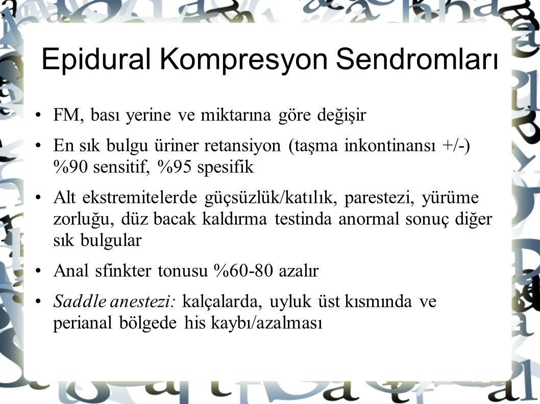 Epidural Kompresyon Sendromları