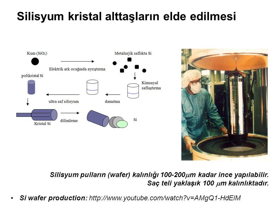 Silisyum kristal alttaşların elde edilmesi