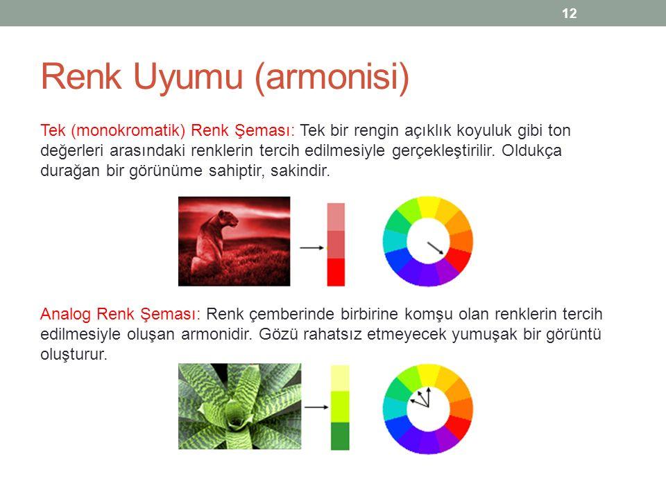 Renk Uyumu (armonisi)
