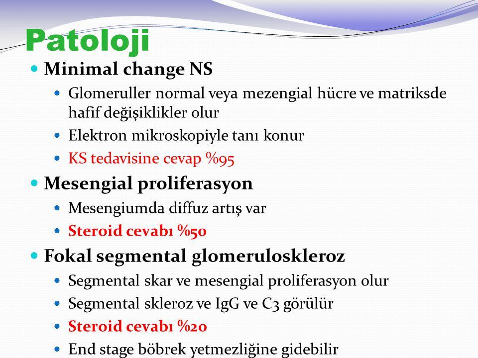 Patoloji Minimal change NS Mesengial proliferasyon