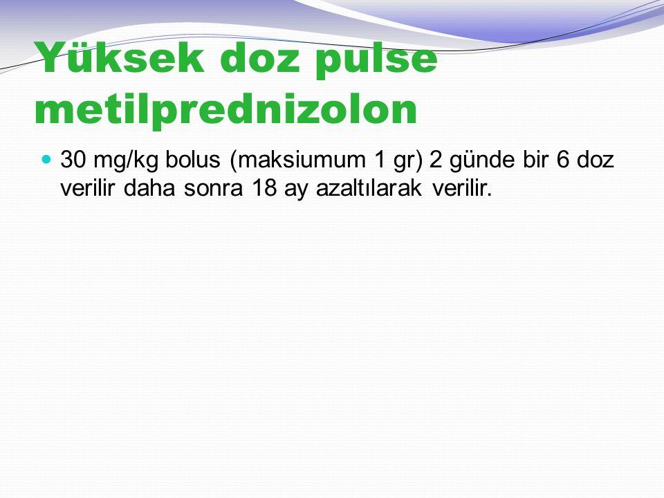Yüksek doz pulse metilprednizolon