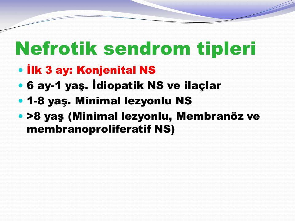 Nefrotik sendrom tipleri