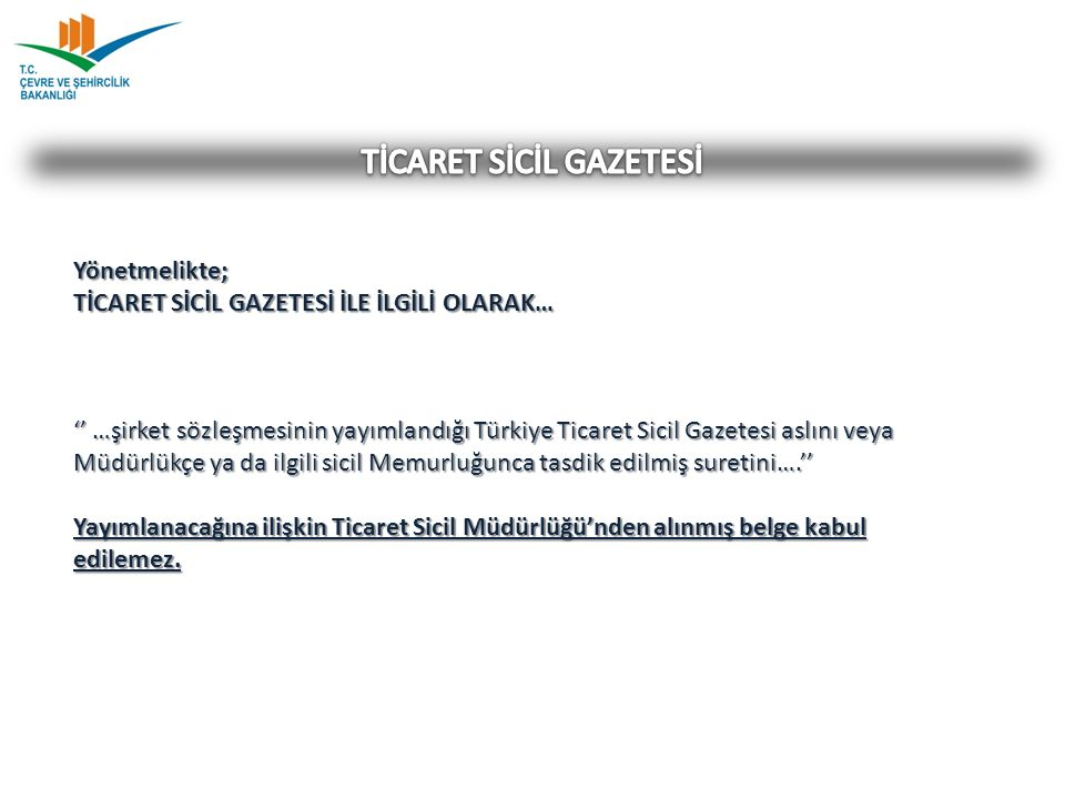 TİCARET SİCİL GAZETESİ