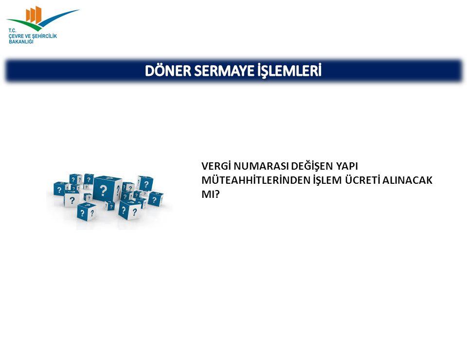 DÖNER SERMAYE İŞLEMLERİ