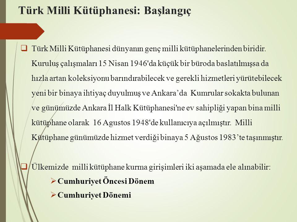 Türk Milli Kütüphanesi: Başlangıç