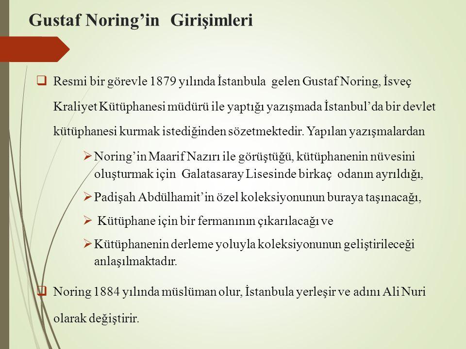 Gustaf Noring'in Girişimleri