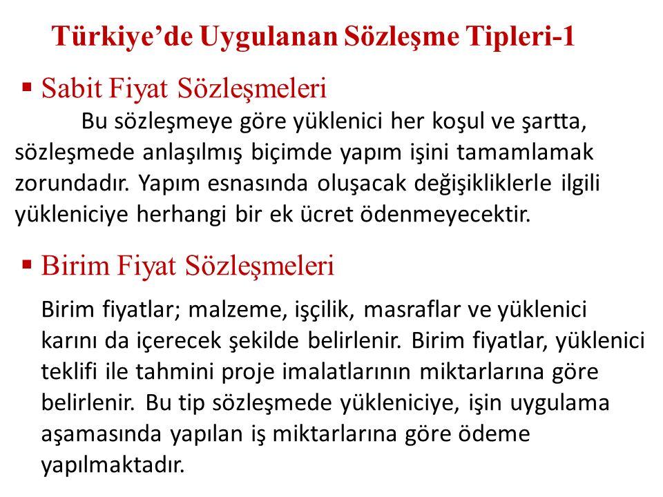 Türkiye'de Uygulanan Sözleşme Tipleri-1