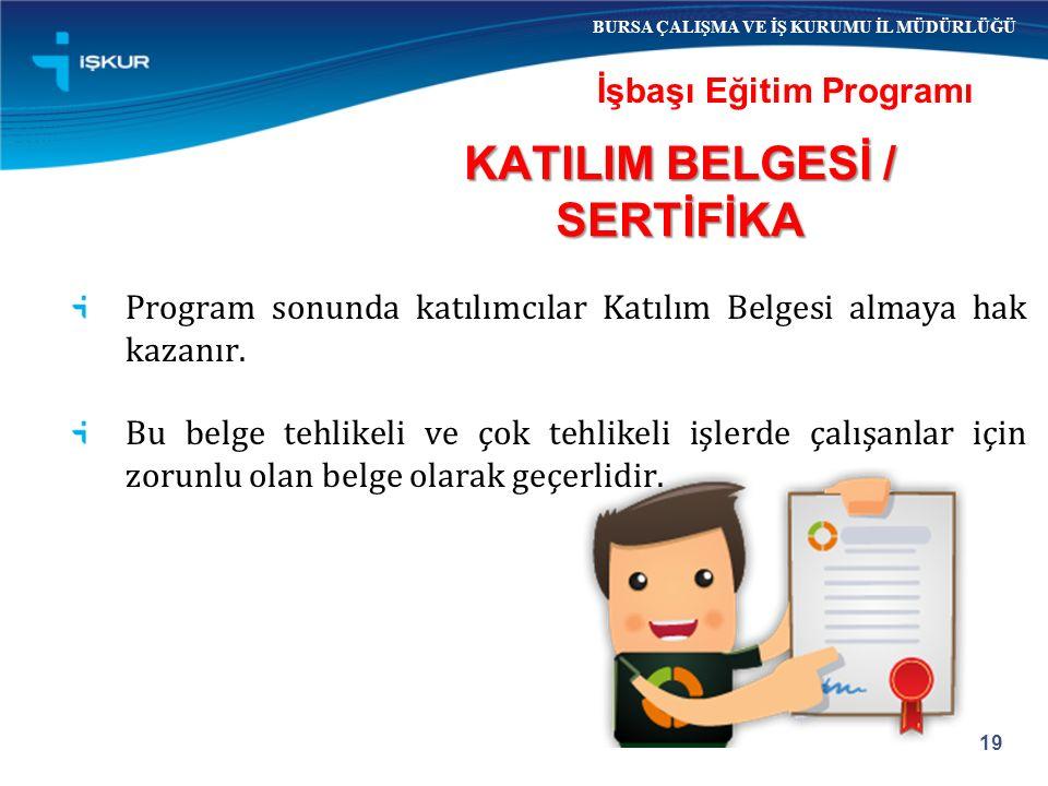 KATILIM BELGESİ / SERTİFİKA
