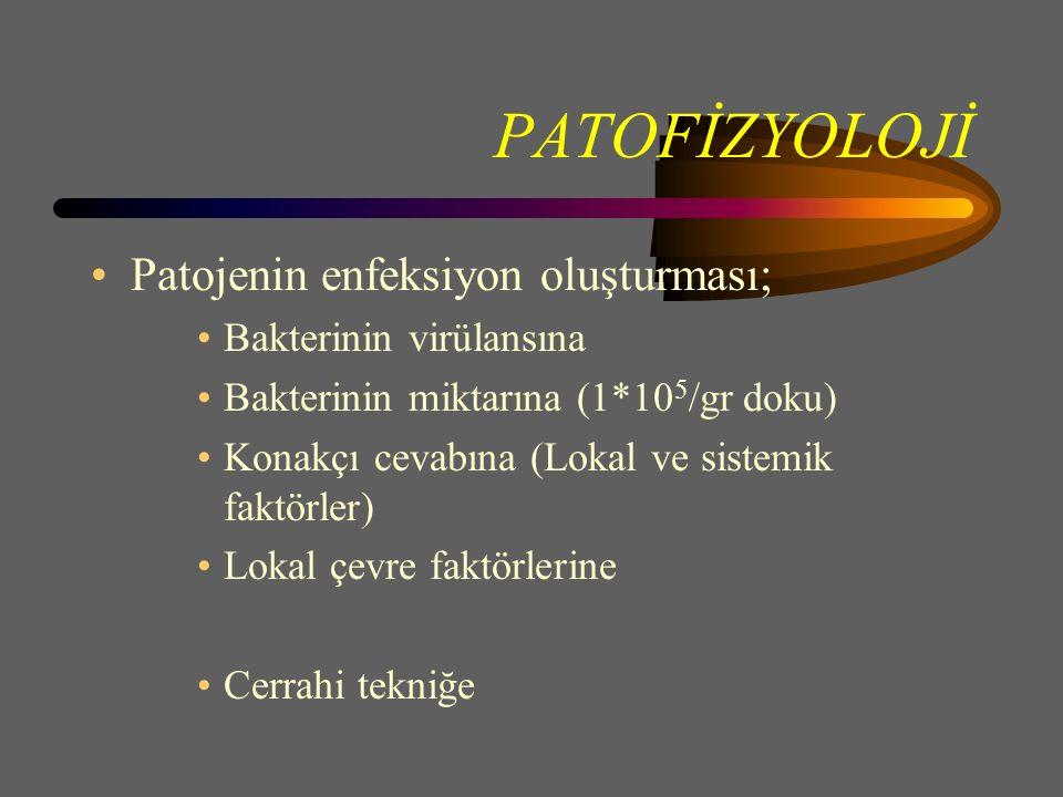 PATOFİZYOLOJİ Patojenin enfeksiyon oluşturması; Bakterinin virülansına