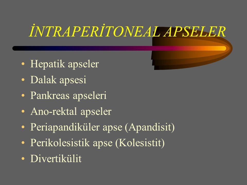 İNTRAPERİTONEAL APSELER