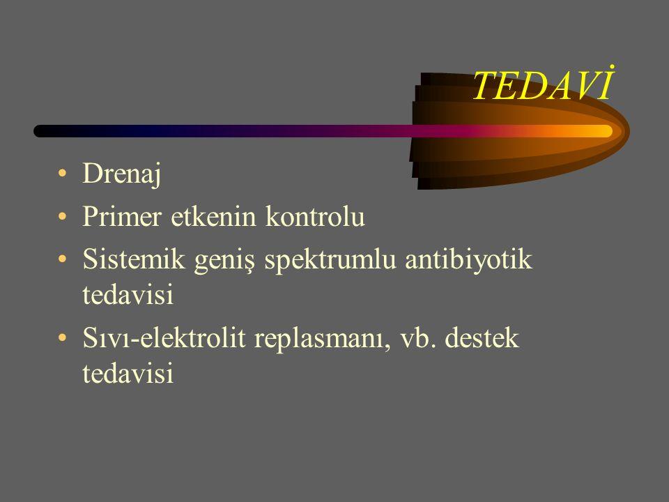 TEDAVİ Drenaj Primer etkenin kontrolu