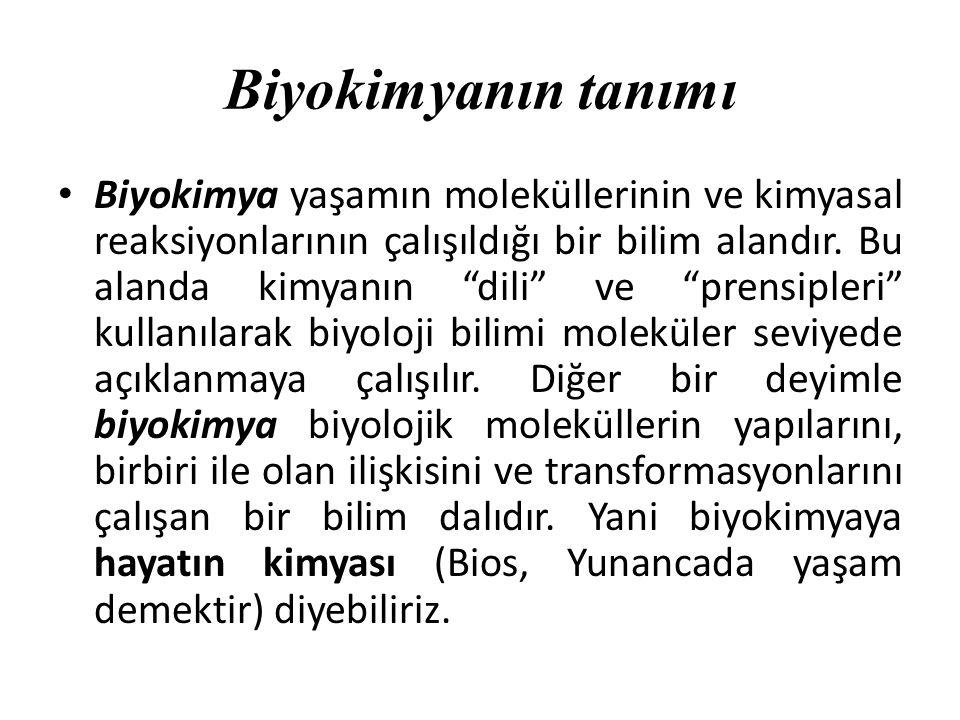 Biyokimyanın tanımı