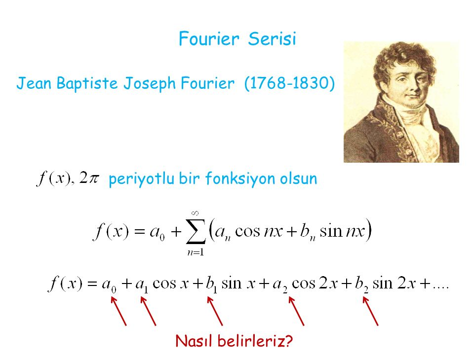 Fourier Serisi Jean Baptiste Joseph Fourier (1768-1830)