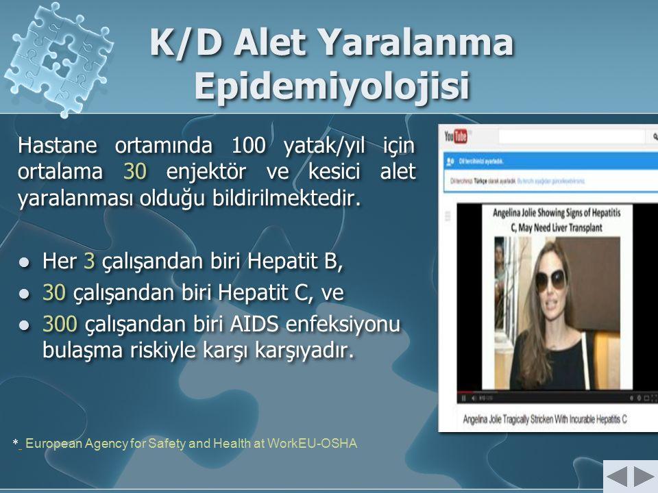 K/D Alet Yaralanma Epidemiyolojisi