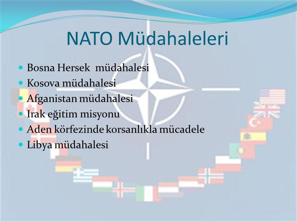NATO Müdahaleleri Bosna Hersek müdahalesi Kosova müdahalesi