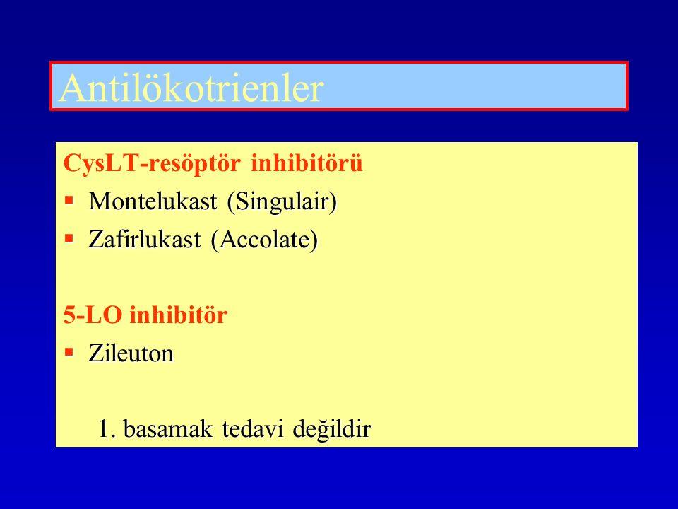 Antilökotrienler CysLT-resöptör inhibitörü Montelukast (Singulair)