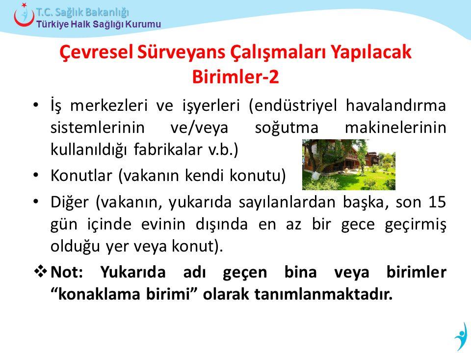 Çevresel Sürveyans Çalışmaları Yapılacak Birimler-2